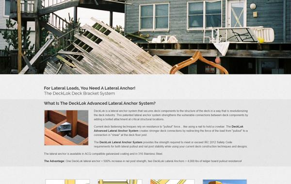 Web Design: DeckLok Lateral Anchor